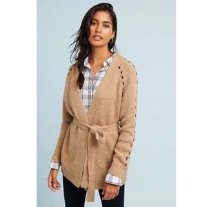 NWT Anthropologie Moth Civita Belted Cardigan M